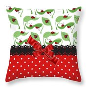 Ladybug Delight  Throw Pillow