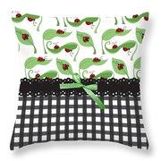 Ladybug Delight Throw Pillow