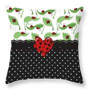 Ladybug Special Throw Pillow