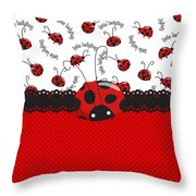 Ladybug Sweet Surprises  Throw Pillow