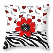 Ladybug Wild Thing Throw Pillow