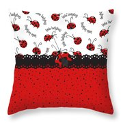 Ladybugs Occasion Throw Pillow