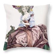 Ladys Elegant Caramel Coloured Satin Throw Pillow