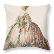 Ladys Gown For The Royal Court Throw Pillow