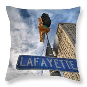Lafayette Square Buffalo Ny V1 Throw Pillow