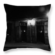 Lafitte's Blacksmith Shop Throw Pillow