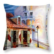 Lafitte's Guest House On Bourbon Throw Pillow