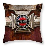Lafrance Badge Throw Pillow