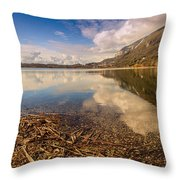 Lago Di Annone Throw Pillow