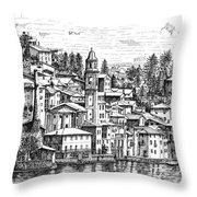 Lago Di Como-brienno Throw Pillow