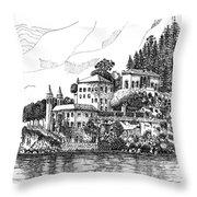 Lago Di Como-lenno - Vila Del Bilbianello Throw Pillow