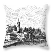 Lago Di Como- San Siro -rezzonico Throw Pillow