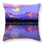 Lago Pehoe In Torres Del Paine Chile Crayons Throw Pillow