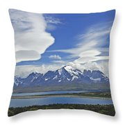 Lago Sarmiento And The Paine Massif Throw Pillow