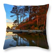 Lagoon Sunrise 1 Throw Pillow