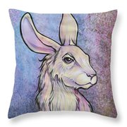 Lagos The Noble Hare Throw Pillow