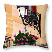 Laguardia Street Lamp  Throw Pillow