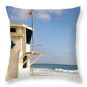 Laguna Beach Lifeguard Tower Throw Pillow