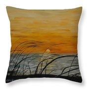 Laguna Madre Sunset Throw Pillow