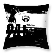 Laguna Seca Racing Cars 2 Throw Pillow by Naxart Studio