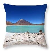 Laguna Verde Bolivia Throw Pillow