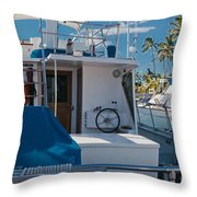 Lahaina Marina Maui Hawaii Throw Pillow