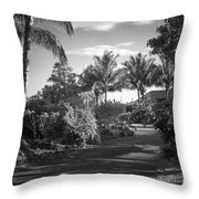 Lahaina Palm Shadows Throw Pillow