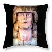 Lahaina Statue 1 Throw Pillow