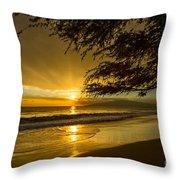 Lahaina Sun Burst Throw Pillow