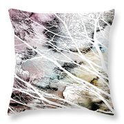 Laid Bare Throw Pillow