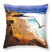 Lajolla Afternoon Throw Pillow