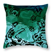 Abiquiu Reservoir Lakebed Throw Pillow