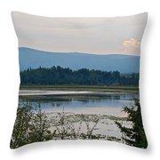 Lake Along Klondike Highway-yt Throw Pillow