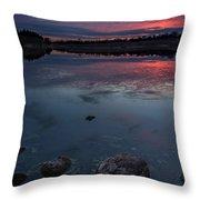 Lake Alvin Dusk Throw Pillow