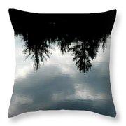 Lake At Glen's Throw Pillow