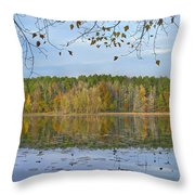 Lake Bailey Petit Jean State Park Throw Pillow