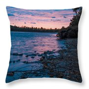 Lake Bailey Sunset Throw Pillow