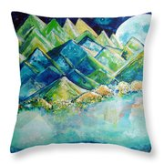 Lake By The Moon Light Throw Pillow