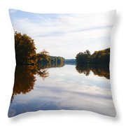 Lake Carnegie Princeton Throw Pillow
