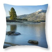 Lake Cascade Throw Pillow
