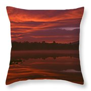 Lake Cassidy Draatic Sunrise Throw Pillow