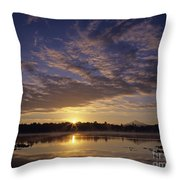 Lake Cassidy With Mount Pilchuck Throw Pillow