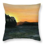 Lake Champlain Adirondack Mountains Vt/ny Throw Pillow
