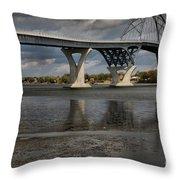 Lake Champlain Bridge Throw Pillow