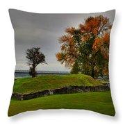 Lake Champlain Crown Point Panorama Throw Pillow