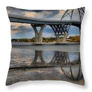 Lake Champlain New Bridge Throw Pillow