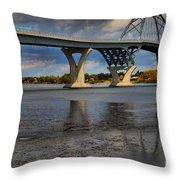 Lake Champlain Tied Arch Bridge Throw Pillow