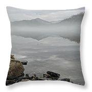 Lake Chatuge Mirror Image Throw Pillow