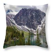 Lake Colchuck Gateway To The Enchantments Throw Pillow