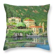 Lake Como Morning Throw Pillow